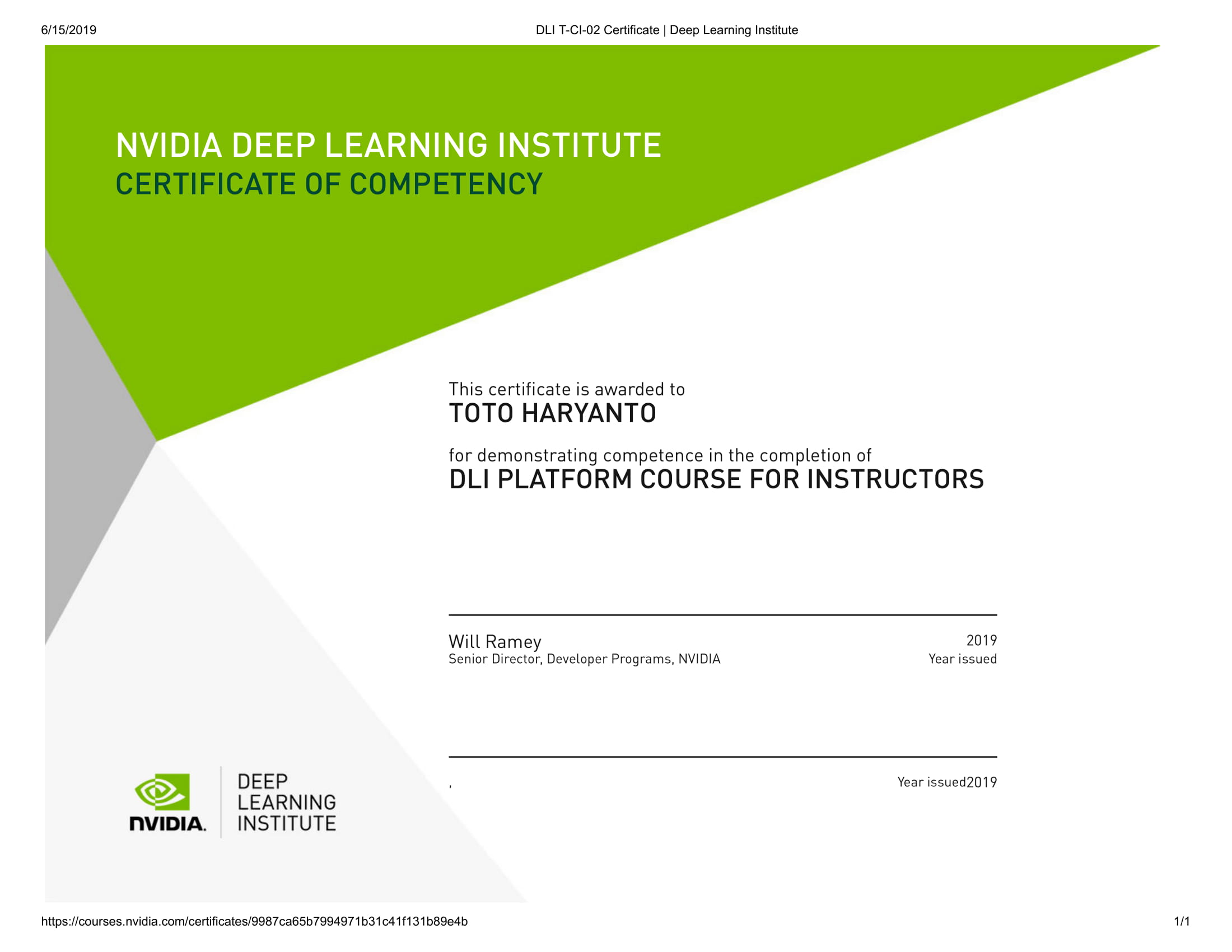 DLI T-CI-02 Certificate _ Deep Learning Institute-1